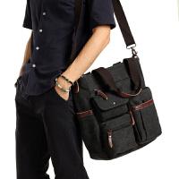 3件7折新款男士包包单肩包斜挎包商务手提包男多功能公文包休闲男包韩版