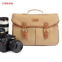 单反相机包适用佳能80D 5D4单肩包D5600D7200D3400 D810摄影皮包