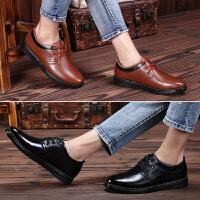 男鞋秋季透气潮鞋2018新款男士皮鞋英伦韩版休闲鞋子工作黑色皮鞋