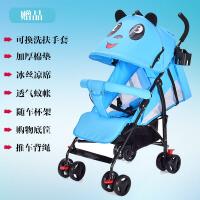 婴儿推车轻便折叠可坐可躺幼儿童宝宝伞车手推车简易便携避震夏季a317 蓝色四季款*包 可坐可躺