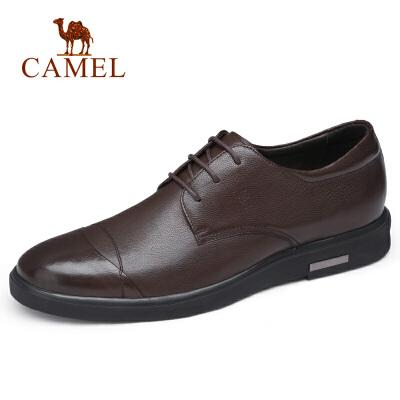 camel骆驼男鞋 秋季新款正装皮鞋牛皮商务皮鞋差旅系带真皮皮鞋