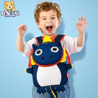 婴幼儿宝宝恐龙防走失背包男童潮小孩儿童背包1-3-5岁2幼儿园书包