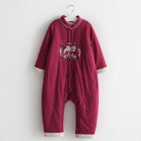 汉服爬爬服男女宝宝连体衣冬棉加厚婴儿外穿6-个月保暖外出服