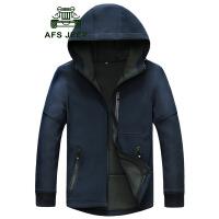 AFS JEEP58123#战地吉普秋冬新款男士休闲男装大码宽松夹克衫