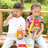 定制 儿童保温杯宝宝带吸管保温壶 小学生幼儿园男女不锈钢防摔两用水杯