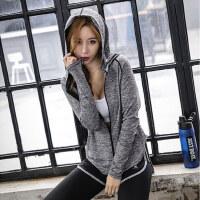 韩版跑步服拉链外套女士宽松休闲健身房运动显瘦瑜伽服上衣女长袖外套
