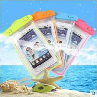 防水爱多尔荧光手机套iphone6plus大号手机防水袋沙滩游泳配件