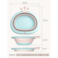 婴儿儿童用品洗屁股用小盆子面盆2个装宝宝洗脸盆可折叠