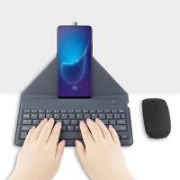 蓝牙键盘华为Mate20 Pro/X华为Mate10 Pro手机蓝牙键盘皮套Mate 灰色【轻薄 便携 支撑】蓝牙键盘