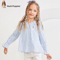【预估券后价:92元】暇步士童装女童衬衫春装新款宝宝洋气长袖衬衫中大童儿童上衣