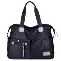 尼龙帆布韩版男包女包手提单肩斜挎包旅游行李包袋商务手拎旅行包