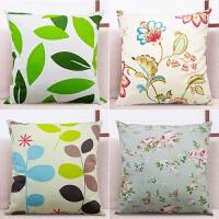 纯棉抱枕套不含芯沙发靠垫套床头靠枕套正方形大靠背套长方形定做