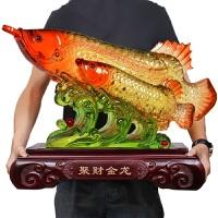 金龙鱼摆件大号 家居装饰品 客厅创意工艺品电视柜风水摆设品