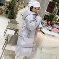 新款学生棉袄韩版中长款宽松bf羽绒女冬季外套过膝棉衣面包服