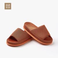 海澜优选2018夏季日式家居足底按摩拖鞋室内地板情侣女