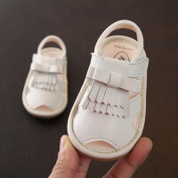女儿童休闲真皮凉鞋2019夏款韩版流苏公主鞋宝宝软底学步鞋0-2岁