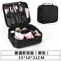 美容师收纳隔板化妆箱 旅行防水大号三层美甲纹绣工具箱包