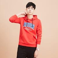 美特斯邦威旗下 4M连帽卫衣男韩版2018春季新款针织上衣运动潮流