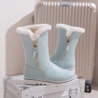 女童雪地靴2018新款韩版女大童公主靴学生棉靴女孩短靴儿童冬靴子