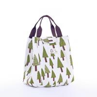 带饭卡通饭盒包防水保温便当包饭盒袋时尚手拎包大容量旅游手提包s6 三角树