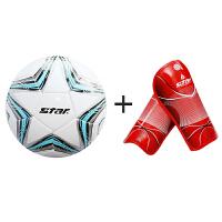 世达 足球 4号 耐磨训练足球 SB8234-07+世达护腿板成人SD202红色