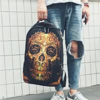 新款潮男双肩包韩版男士学生书包时尚潮流个性旅行电脑背包男 图片色