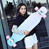 2018长板公路四轮滑板车青少年男女生舞板刷街板 初学者抖音滑板