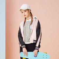 【2件2.5折到手价:71.5】美特斯邦威春装新款中国风潮流刺绣夹克外套女小个子短外套