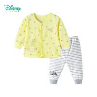 迪士尼Disney 新生儿前开扣长袖套装卡通索菲亚公主印花女童衣服两件套183T803