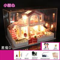 创意生日礼物 diy小屋手工制作拼装模型房子建筑别墅女孩玩具