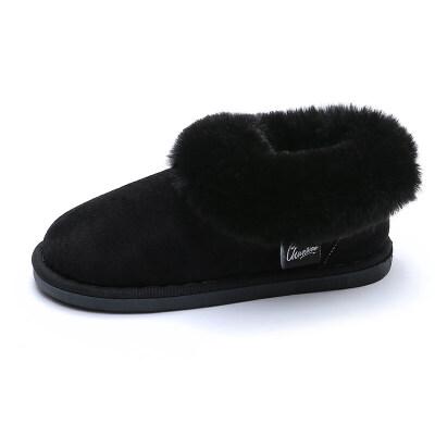 棉拖鞋女冬室内居家包跟厚底保暖毛毛情侣秋季月子鞋产后韩版加绒