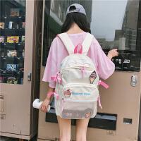 新款韩版ulzzang少女心冰激凌背包校园高中初中学生大容量书包