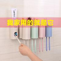 牙膏架牙刷置物架吸壁式全自动挤牙膏器套装牙膏挤压器抖音牙刷架