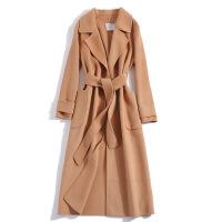 反季秋冬季双面绒羊绒羊毛尼呢子大衣风衣修身中长款女装毛呢外套
