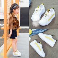 女童小白鞋儿童鞋男童运动鞋春秋童鞋女童鞋休闲板鞋