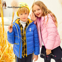【秒��r:199元】暇步士�和�羽�q服2020冬季新款男童�B帽羽�q外套中大童女童羽�q服