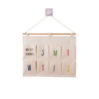 多层布艺门后收纳挂袋衣柜悬挂式收纳袋寝室宿舍墙上置物袋