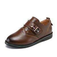 男童皮鞋 2018新款真皮童鞋休闲表演单鞋英伦风儿童演出皮鞋SN0335
