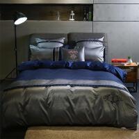 床品豪华欧美风贡缎全棉四件套棉床单刺绣简约床上用品