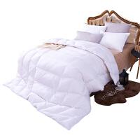 羽绒被95白鹅绒被芯冬天被子双人单人冬被保暖家用春秋加厚被子 淡雅白