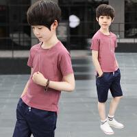 童装男童夏装套装新款儿童夏季中大童男孩韩版短袖休闲两件套