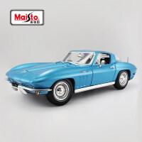 美驰图 1:18雪佛兰克尔维特原厂仿真合金汽车模型速度与激情8车模 蓝色005