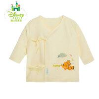 迪士尼Disney新生儿开衫上衣纯棉婴儿服装 宝宝斜襟绑带上衣153S679