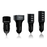 【包邮+支持礼品卡支付】Riida车充头一拖二三四USB口汽车点烟器苹果6s智能手机车载充电器