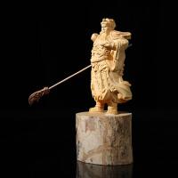 家居摆件饰品木雕刻关公武财神人物佛像工艺品