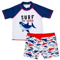 新款����泳衣中小童游泳衣分�w男童五分平角泳�套�b防��和�泳�b