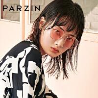 帕森2018新品太阳镜 女士金属多边形大框浅色尼龙镜片潮墨镜 8189