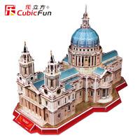 乐立方3D立体拼图DIY圣保罗大教堂MC117 婚礼建筑纸模型 智力玩具