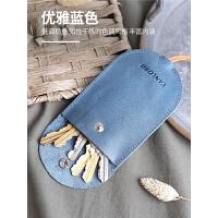 女士真皮超薄钥匙包创意韩国可爱抽拉式迷你小巧通用汽车锁匙包男
