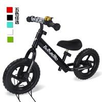 儿童平衡车滑行车学步车滑步车无脚踏踏行车自行车12寸